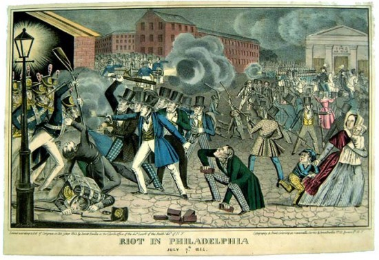 Nativist Riots in Southwark, 1844