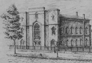 Engraving of Old St. Mary, n.d.