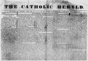 First issue of The Catholic Herald, January 3, 1833