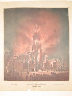 StXavier burning  Cincinnati