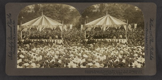 President Roosevelt speaking before C.T.A.U. delegates and United Mine Workers of America http://www.loc.gov/pictures/item/2013647511/resource/