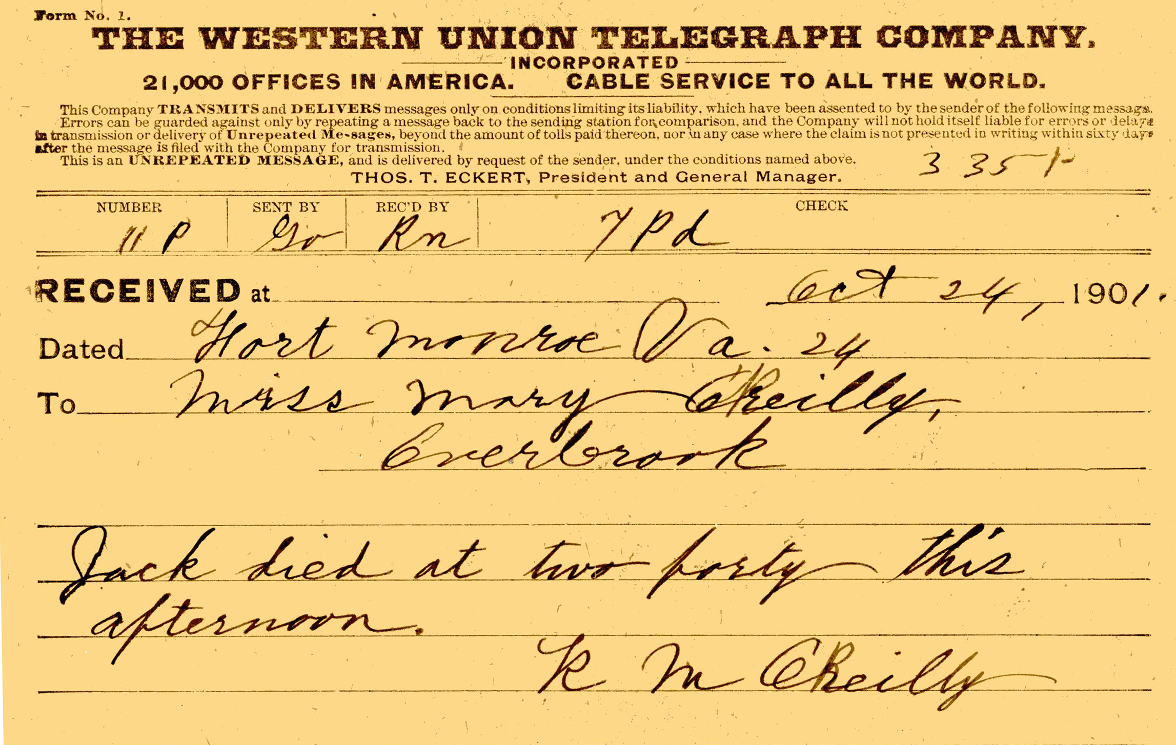 Philadelphia Historical – Center O'reilly From October Mary To M Robert 1901 The Research 24 Telegram Of Catholic O'reilly Archdiocese