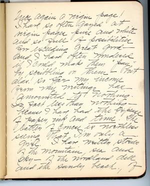 Josephine Walsh diary page